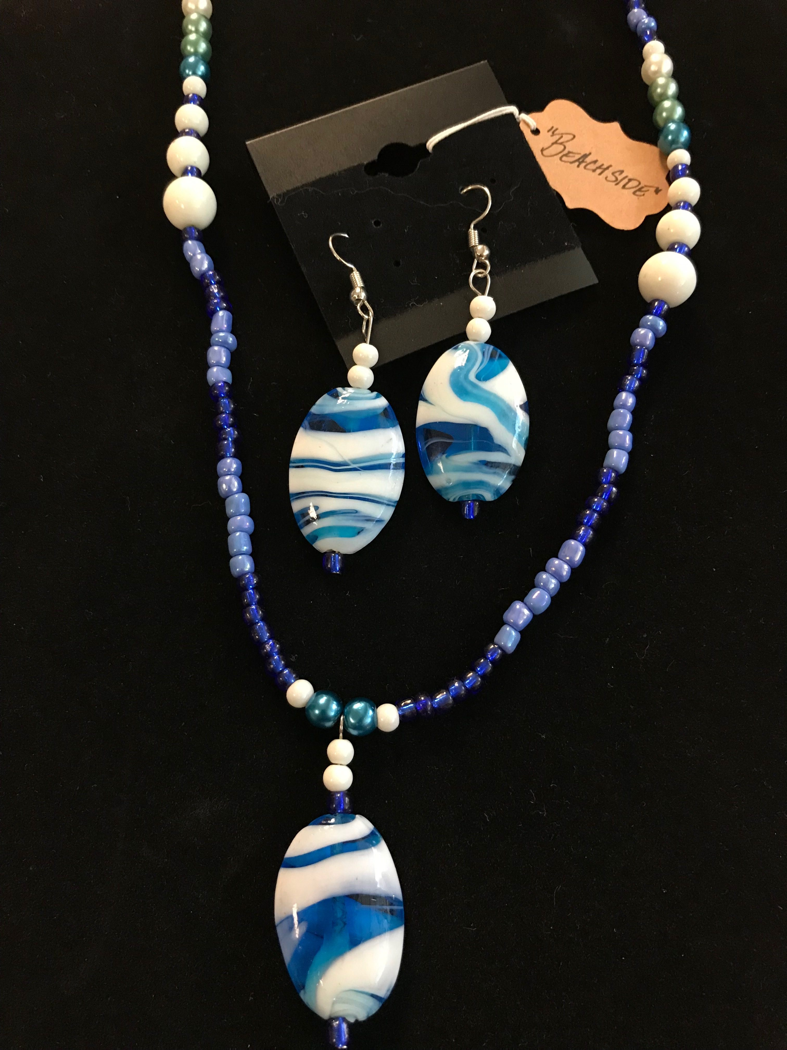 """Beachside"" - necklace/earring set"