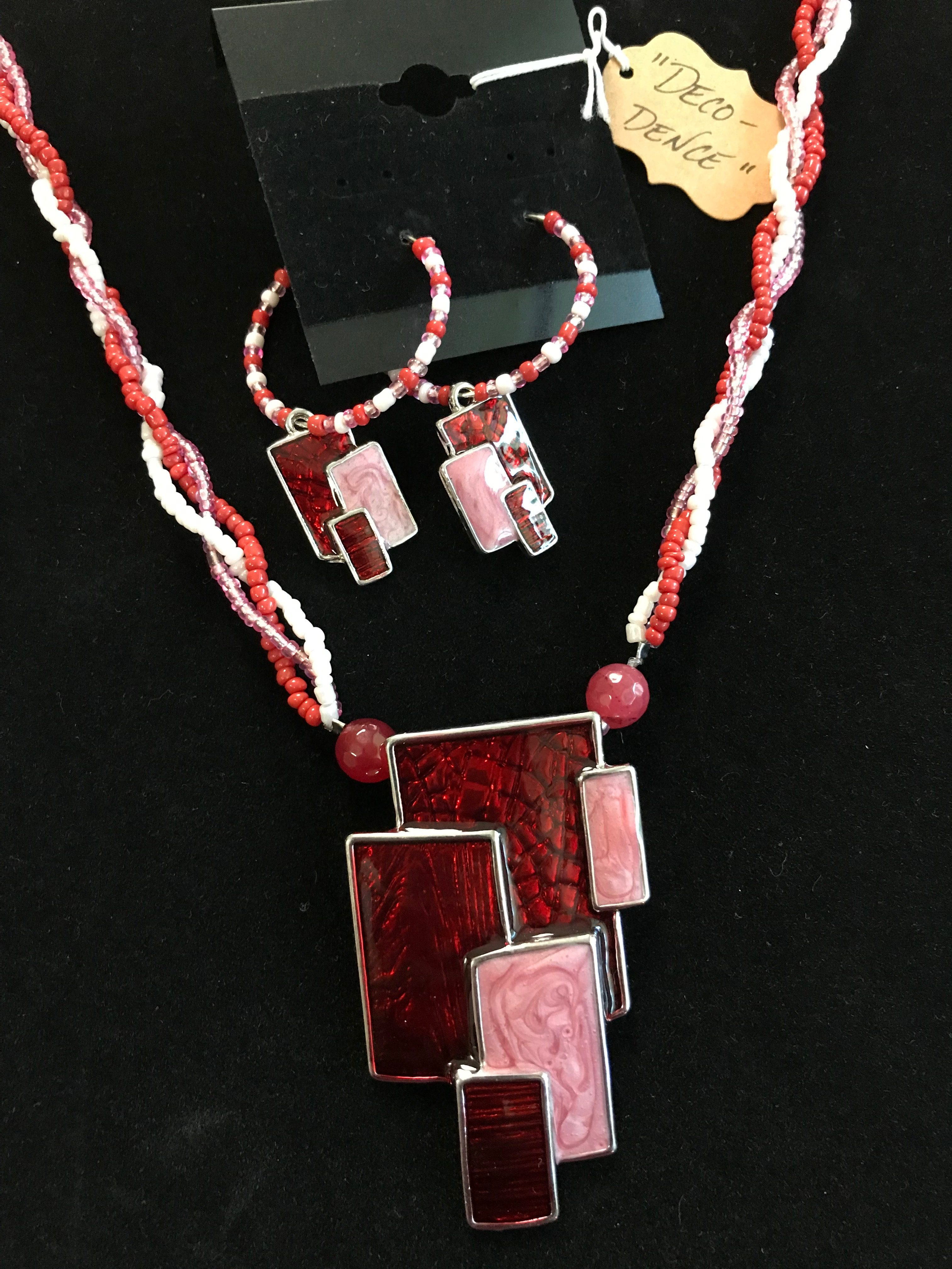 """""""Deco-dence"""" - necklace/earring set"""