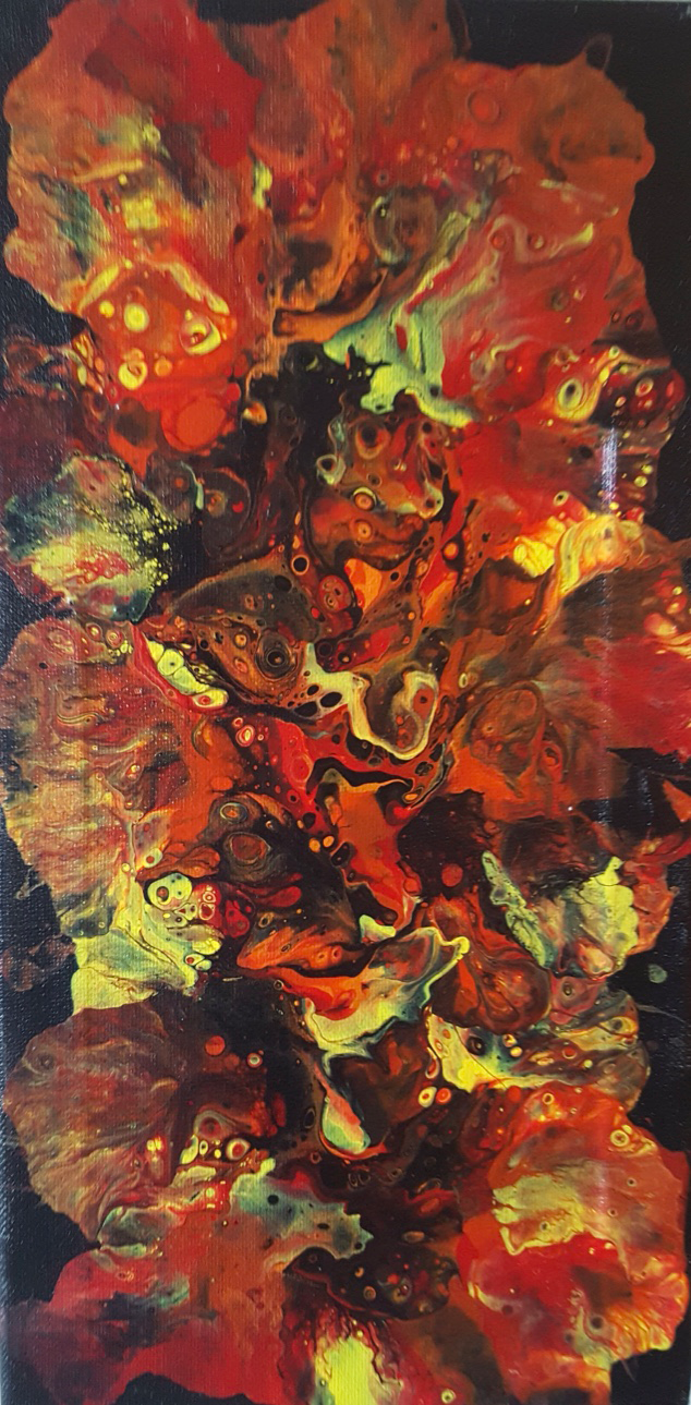 """""""Dance of the Fire Lillies"""" - painting on canvas"""
